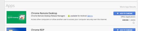 chrome remote desktop app in the chrome store