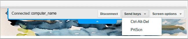 chrome remote desktop top menu bar